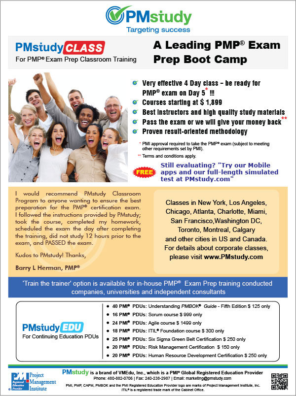 pmp project management boot camp guide pdf